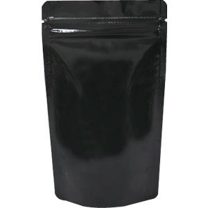底透明チャック付スタンド袋 黒 120×200