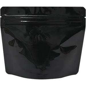 底透明チャック付スタンド袋 黒 170×140