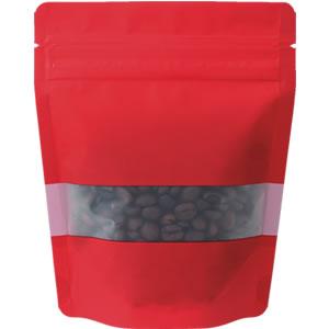 チャック付透明スタンド袋 赤 窓付120×150