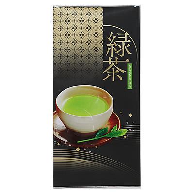 100gマットアルミNY平袋 緑茶 黒