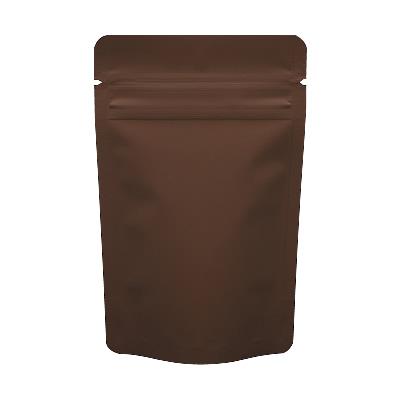 チャック付蒸着スタンド袋 茶90×145