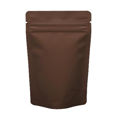 チャック付蒸着スタンド袋 茶110×170