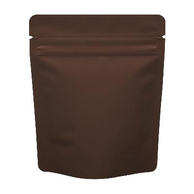 チャック付蒸着スタンド袋 茶120×150
