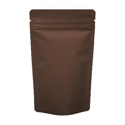 チャック付蒸着スタンド袋 茶120×200