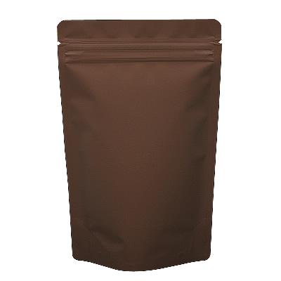 チャック付蒸着スタンド袋 茶140×220