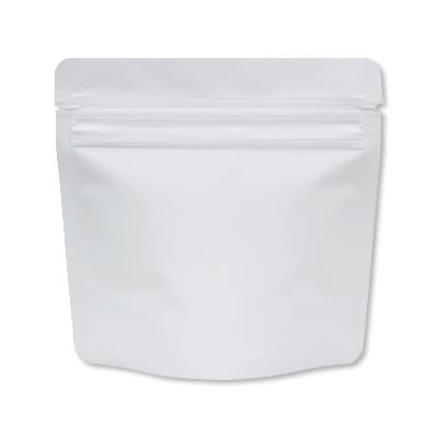 チャック付蒸着スタンド袋 白130×130
