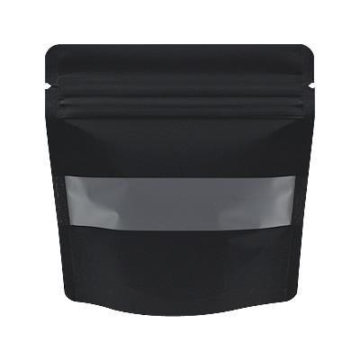 チャック付透明スタンド袋 黒 窓付130×130