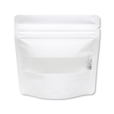 チャック付透明スタンド袋 白 窓付130×130