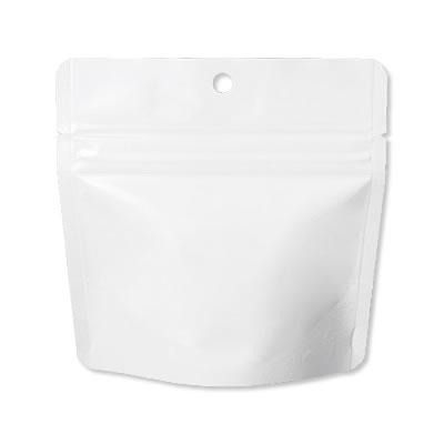 チャック付ALスタンド袋白穴あき130×130