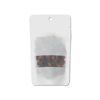チャック付透明袋 白 窓付穴あき 90×155