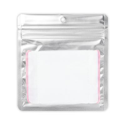 チャック付クリアパック平袋穴あき150×160