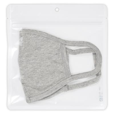 チャック付透明平袋白 穴あき 180×190