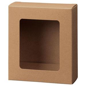 カートン クラフト 窓付 109×123×45