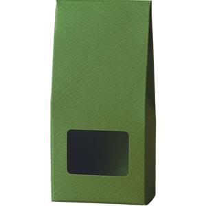 三角カートン 緑 窓付