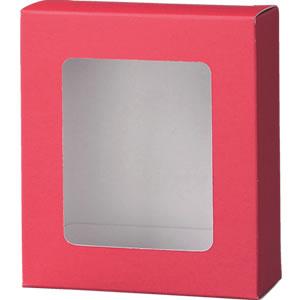 カートン 赤 窓付109×123×45