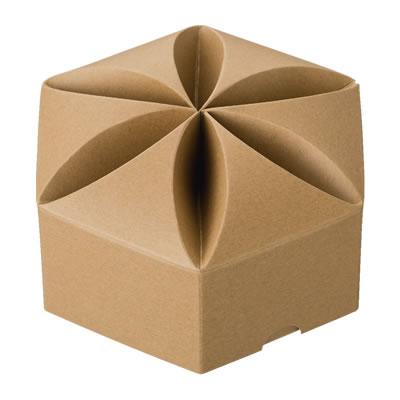 六角カートン 花型 クラフト 160×65×160