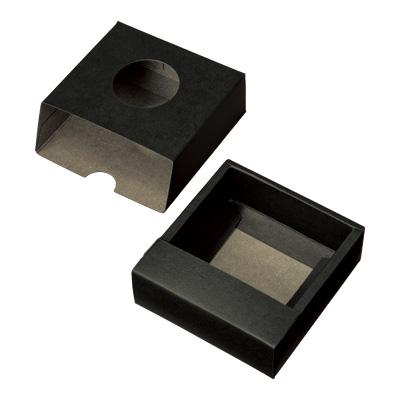 スライド式カートン 黒 窓付 93×94×32