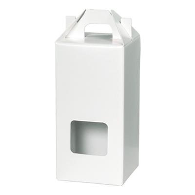 手さげカートン白パール窓付 47×46×115