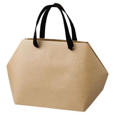 手さげ紙袋 クラフト 400×150×230