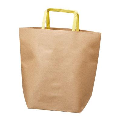 手さげ紙袋 クラフト (提げ手黄)