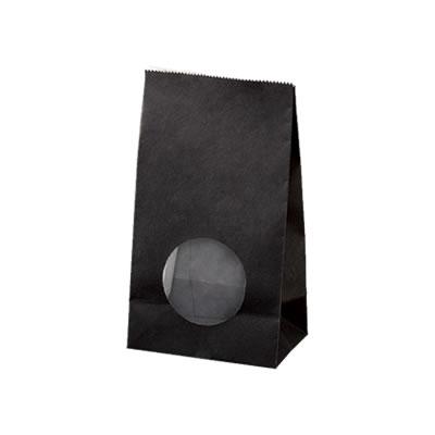 角底袋 黒 フィルム窓付 90×60×160