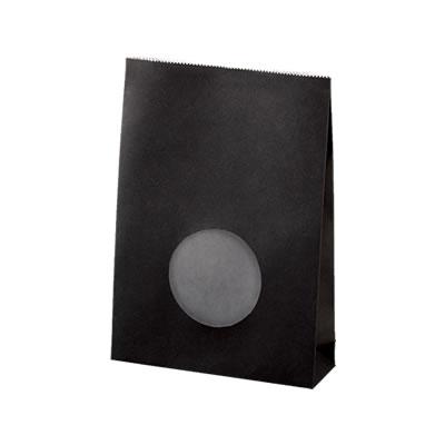 角底袋 黒 フィルム窓付 130×40×185