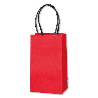 ミニ手さげ紙袋 赤 90×60×160