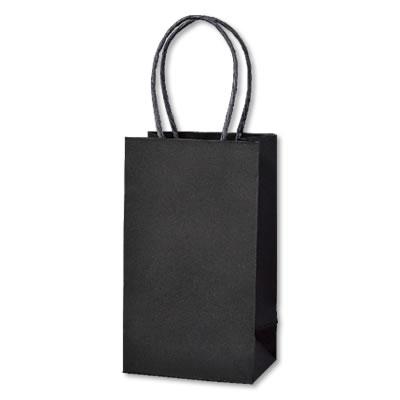 ミニ手さげ紙袋 黒 90×60×160