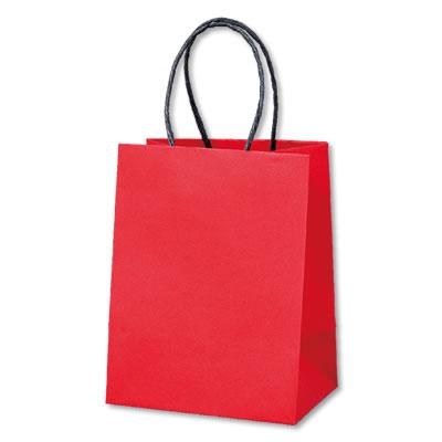 ミニ手さげ紙袋 赤 120×85×160