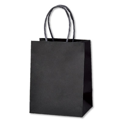 ミニ手さげ紙袋 黒 120×85×160