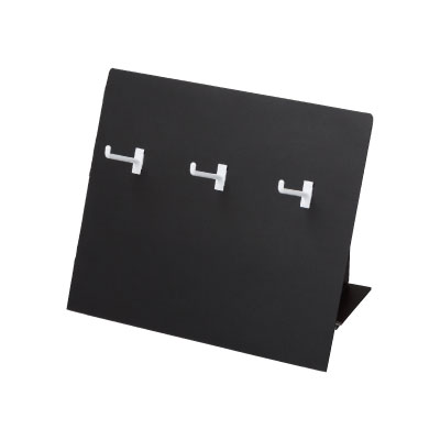 卓上販売台 3フック 黒