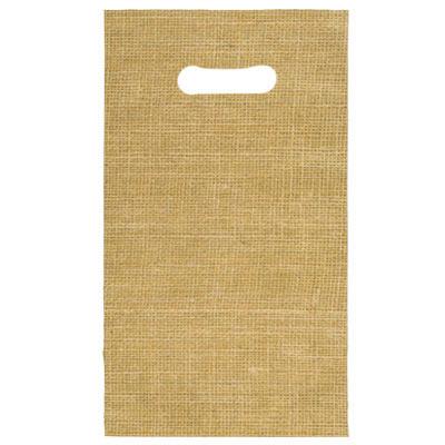 不織布 手提げ袋 麻柄 170×300
