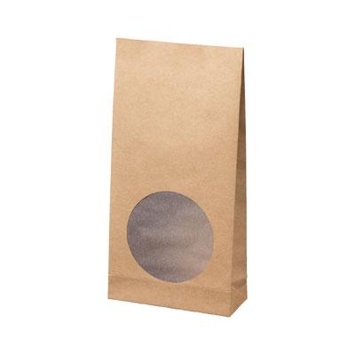 紙製窓付き角底袋クラフト 100×40×200