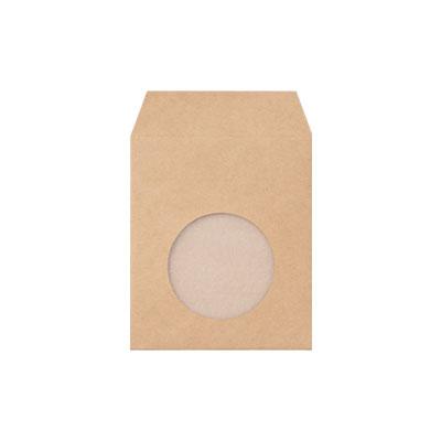 紙製窓付き封筒 クラフト 120×140