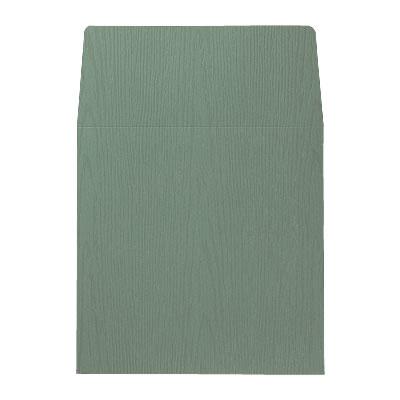 封筒 木目 緑 158×158mm