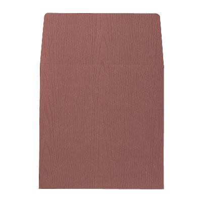 封筒 木目 赤 158×158mm